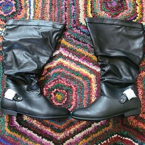 NEW Ruched Boots Size 10W